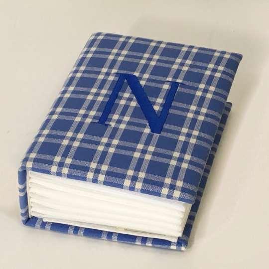 AHB7-BG-Blue-Plaid-Cotton-Style-107-Navy-Thread