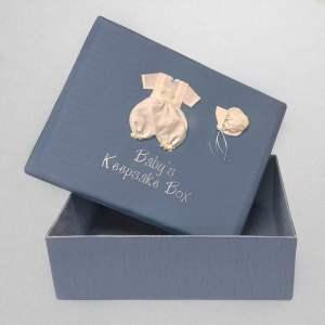 B21R-12B-Blue-Shantung-Style-151-White-Thread-Babys-Keepsale-Box