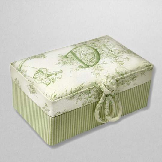 BY7-BG-Celadon-Toile-with-Green-Pinstriped-Cotton-Style-151-Celadon-Thread