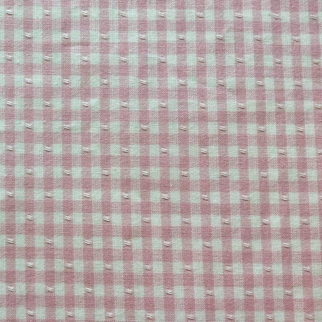 Fabric-Swatch-Cotton-Gingham-Pink-Cotton-Gingham