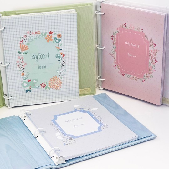 Baby Memory Book Page Color Options