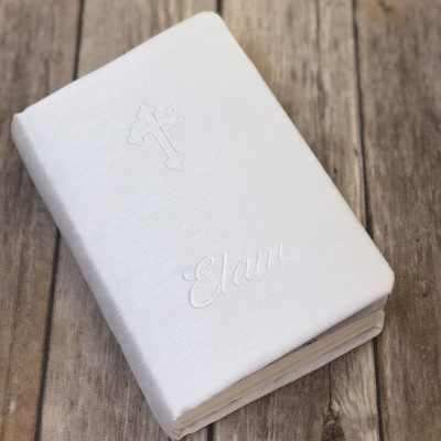 Children's Bible In Shantung With White Cross