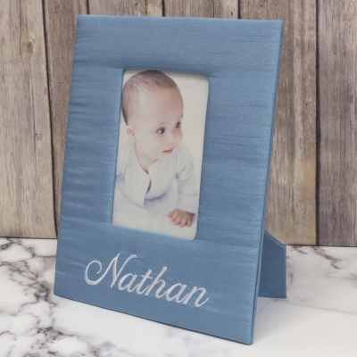 Baby Photo Frame In Baby Shantung