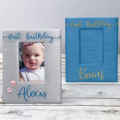 First Birthday Photo Frame - Personalized with a name