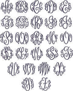 Picture of Fancy Monogram Font