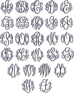 Picture of Fancy Monogram Font