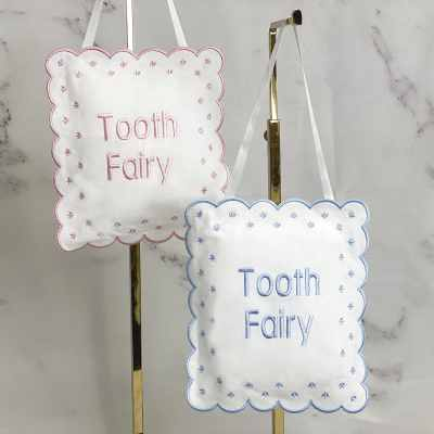 Tooth Fairy Baby Sign In Linen Cotton Blend