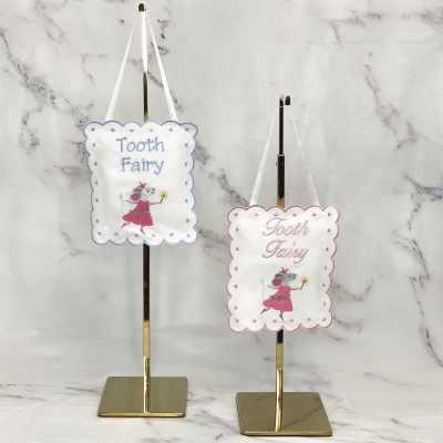 """Tooth Fairy Señora """"Ratoncito Pérez"""" Hanging Sign Pillow"""