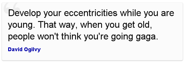 Eccentric Pithiness