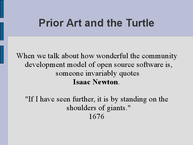 Prior Art and the Turtle