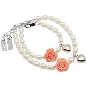 baby-armbandje-flower-met-bol-hartje-en-bijpassende-mama-armband-marcelineke