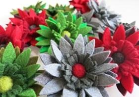 Bijzondere creaties en vilten bloemen