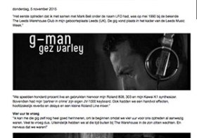 My First Gig: DJ G-Man aka Gez Varley