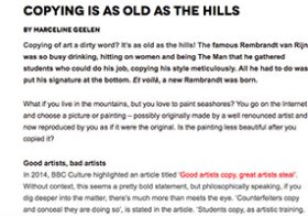 Zart blog: Copying is al Old as the Hills