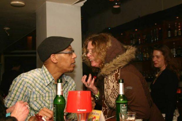 DJ Gino Lightner and me at Frisco Inn Amsterdam