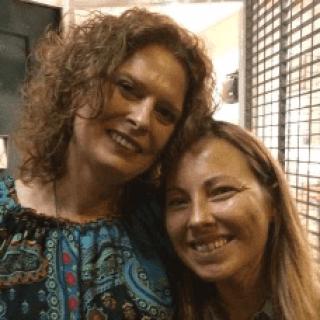 Paula Cazenave and Marcelineke