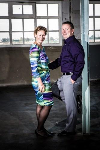 Portret in Nijmegen van Mariska en Dimitri