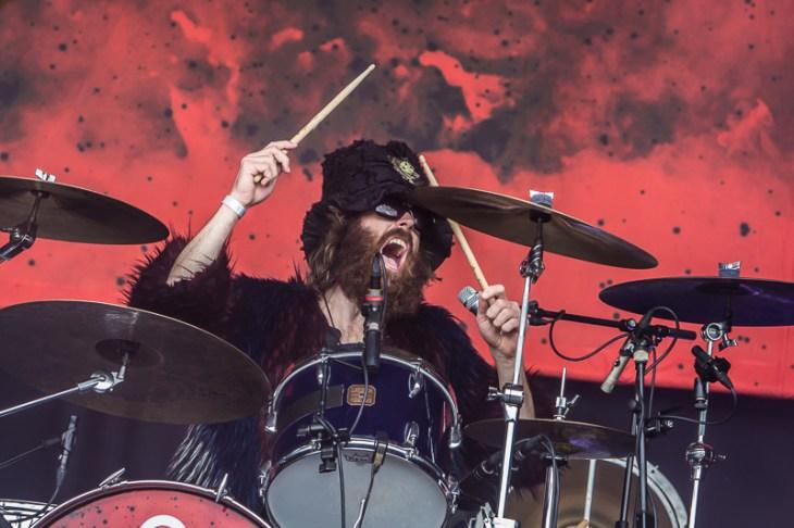De Nederlandse rockband Navarone speelt jaren '70 rock van nu tijdens het Huntenpop festival 2017