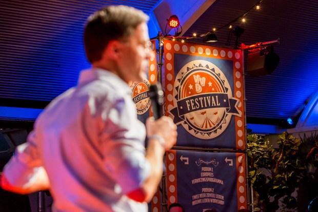 Mark Rutte op het VVD festival door Marcel Krijgsman