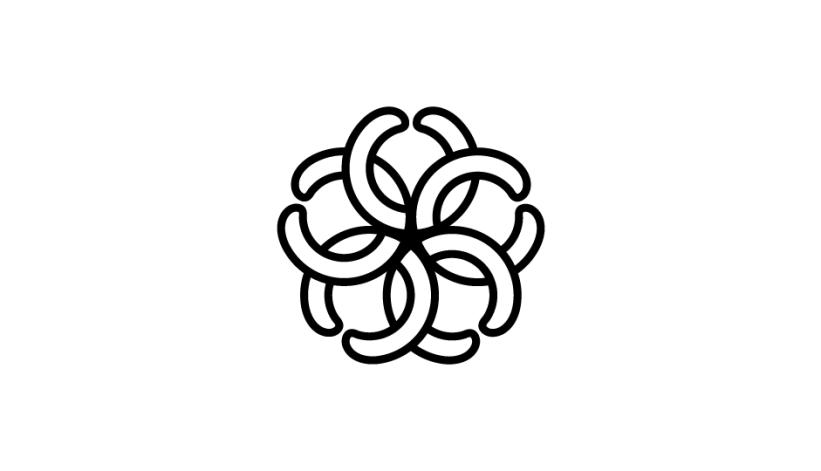 18. Imbricación de formas que representa a las células carcinógenas, a las cabezas de las serpientes, y a los métodos de tratamiento radiológico (modalidad lineal original).