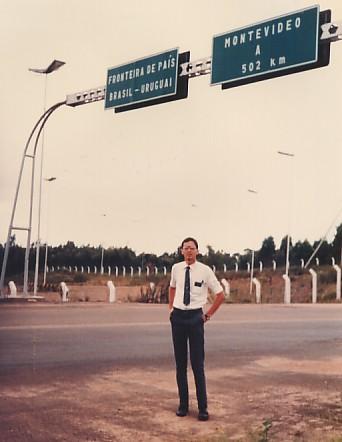Eu, em um dos extremos do Brasil