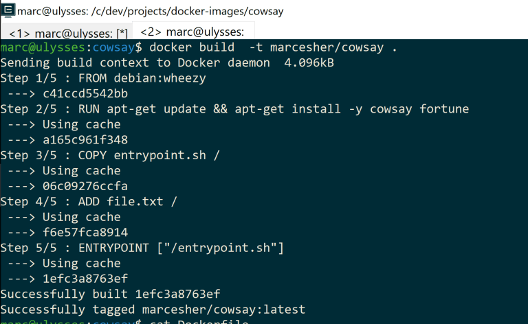 Building a Docker image from within WSL