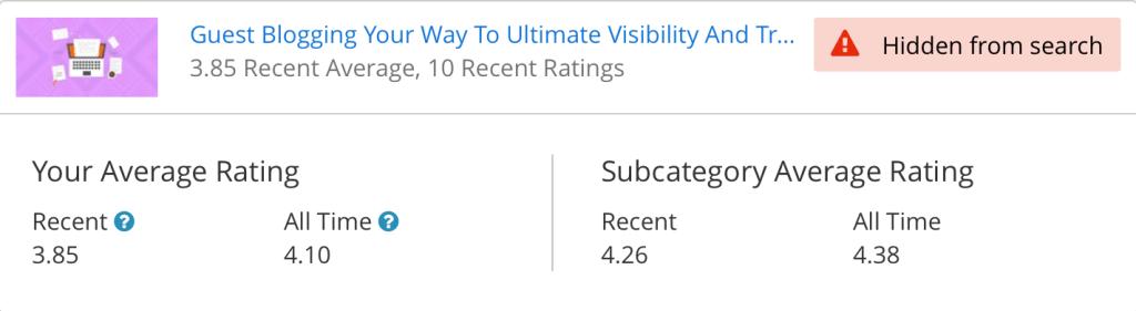 udemy rating system