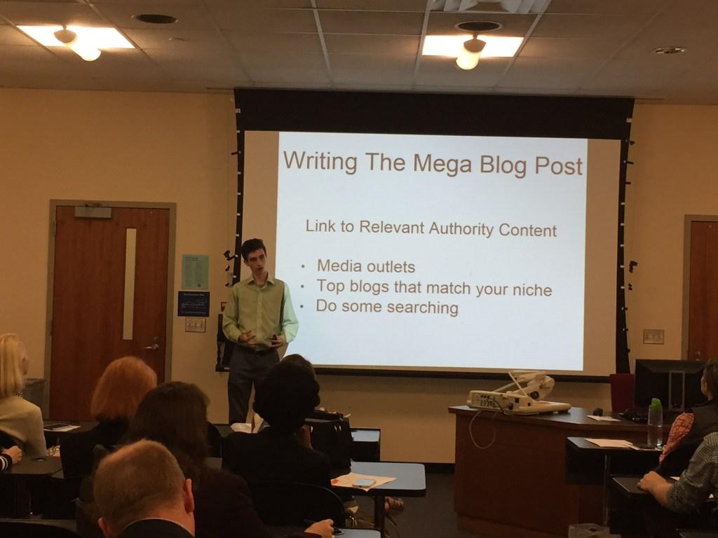 speaking at symposium