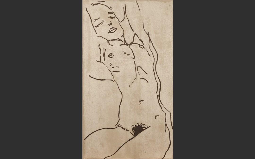 Nu assoupi – Egon Schiele