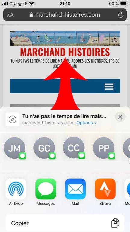 Tutoriel pour un raccourci sur smartphone