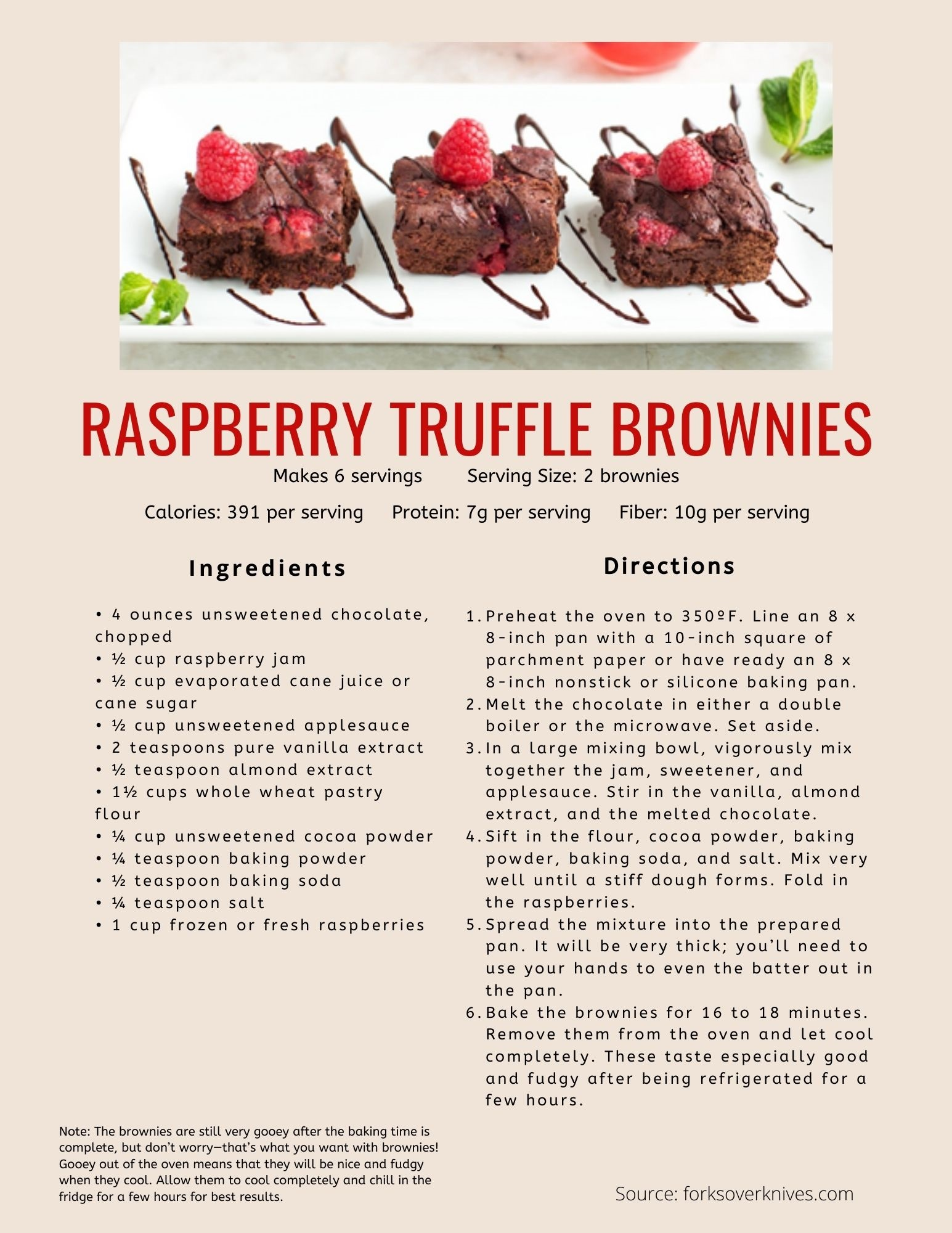 Forks Over Knives Recipes Raspberry Brownies