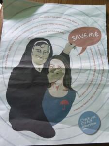 imagem original da revista  irlandesa Rabble (http://www.rabble.ie/), criticando a criminalizaçao e vitimizaçao das prostitutas. In: http://elestantedelaciti.wordpress.com/2013/08/25/news-from-ireland-saving-in-the-name-of-scrub/