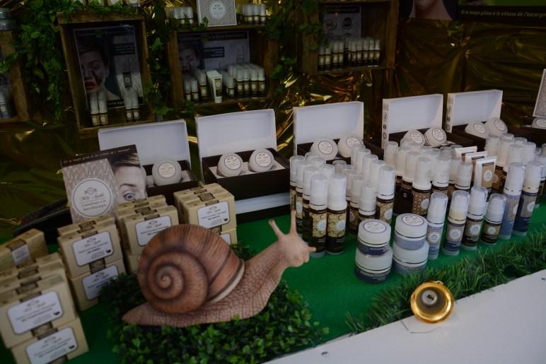 Chalet de cosmétiques au marché de noël de Nantes