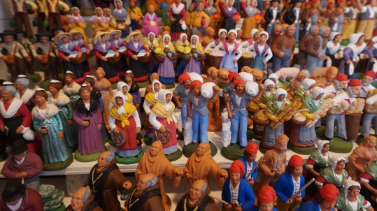 Les traditionnels santons de Noël