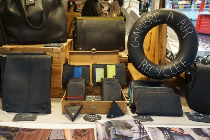 Accessoires en chambre a air recyclee