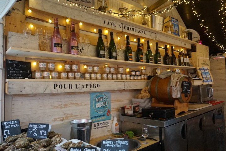 champagne terrines et huîtres