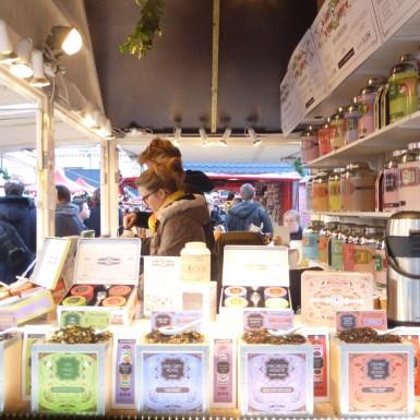 Chalet maison de thé au marché de noël d'Angers