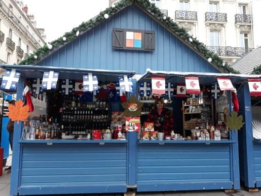 Chalet canadien sur le marché de noël d'Angers
