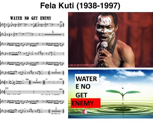 Fela Kuti et l'eau