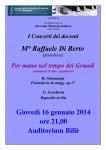 Concerti dei docenti - M° Raffaele Di Berto