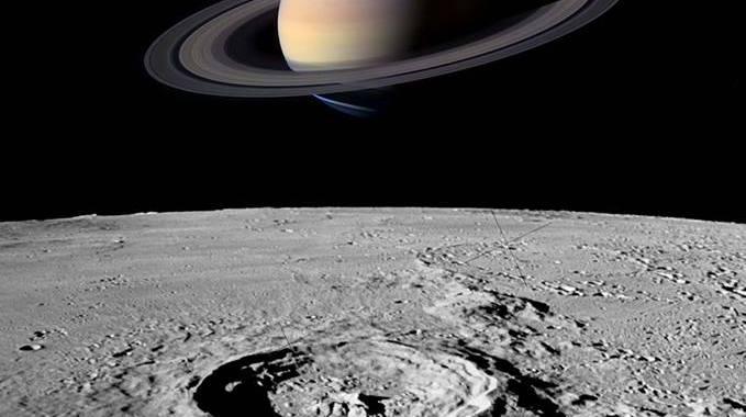luna e saturno cielo di giugno