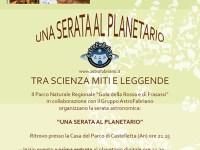 Una serata al Planetario tra Scienza, Miti e Leggende