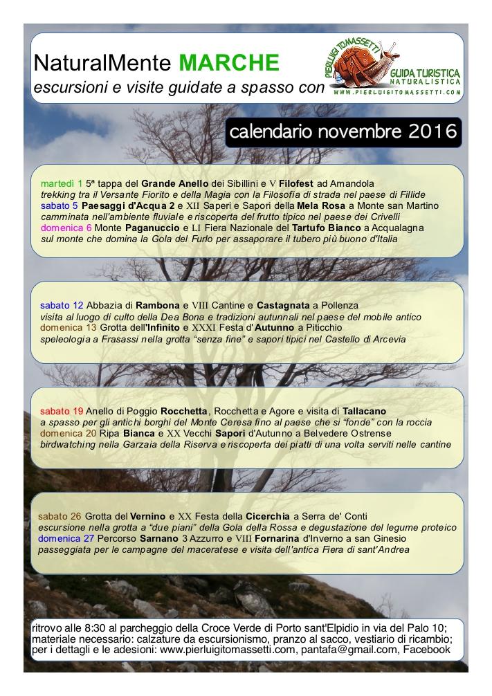 escursioni a novembre