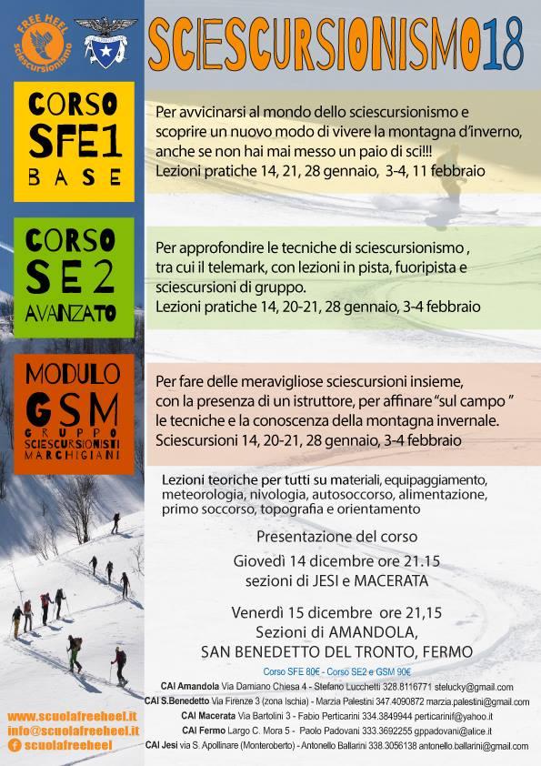 """La Scuola Intersezionale Sciescursionismo """"Free Heel"""""""