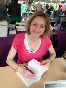 Marie-Edith Laval au Salon du Livre de Montmorillon (juin 2015)