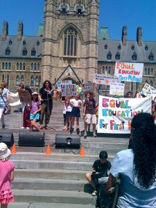Demonstration on the Hill for First Nations education