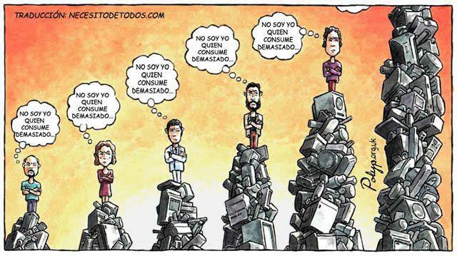 consumismo caricatura