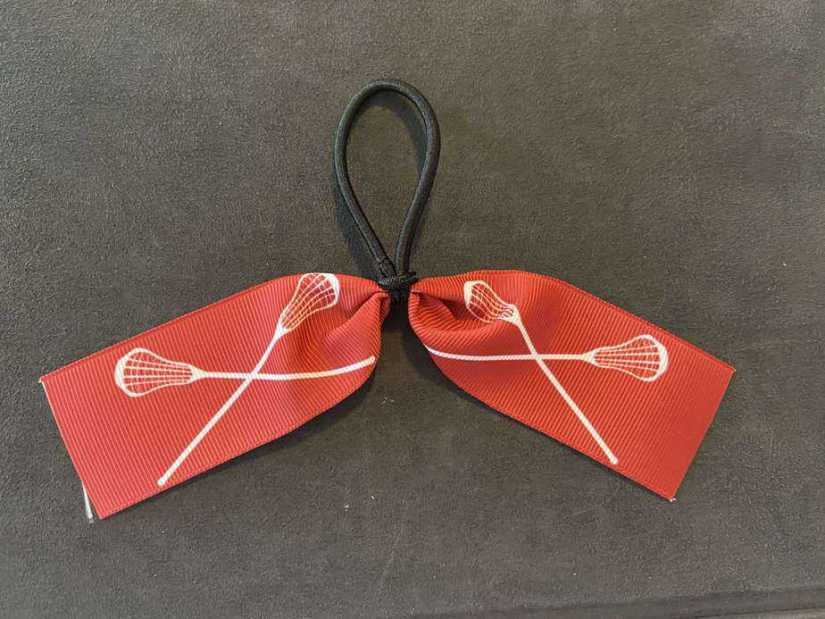 Sports themed hair tie for lacrosse