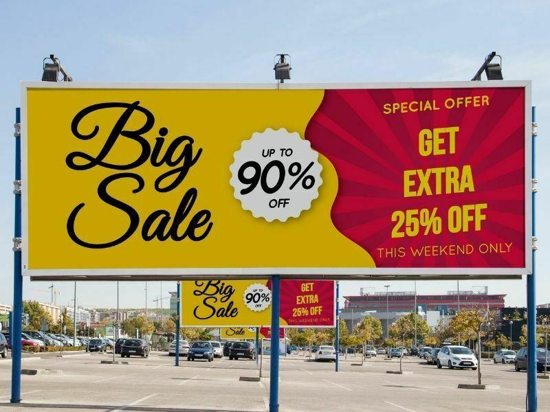 offline marketing bilboard