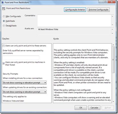 Como permitir que usuários instalem impressoras de rede (2/4)
